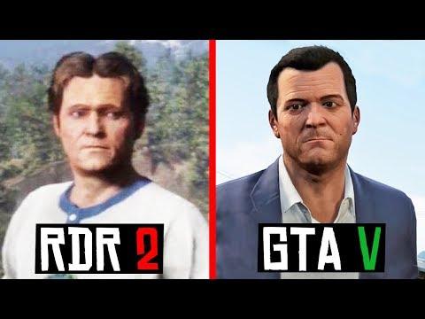 Все GTA Герои, которые появились в Red Dead Redemption 2! (RDR 2)