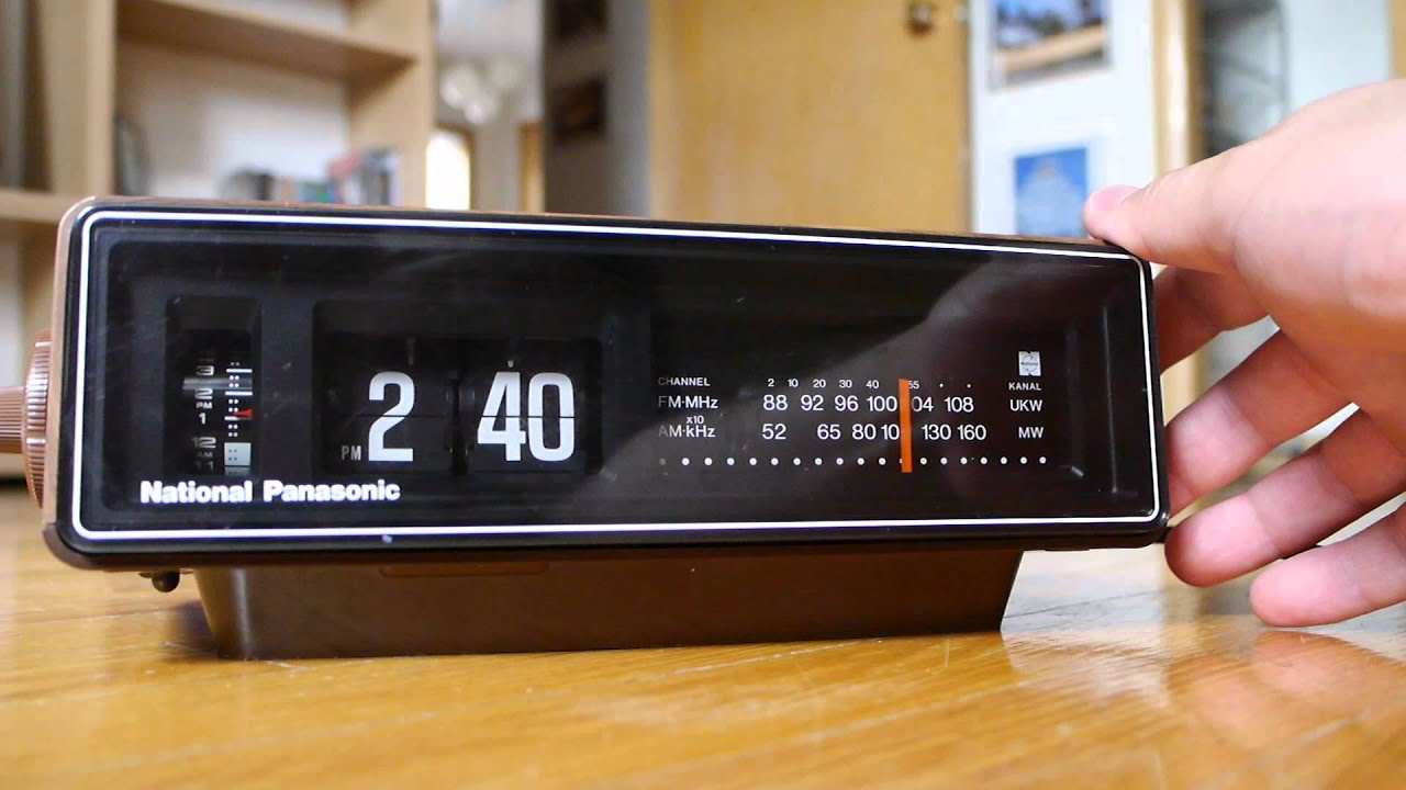 panasonic vintage flip clock radio ground hog day bi doovi. Black Bedroom Furniture Sets. Home Design Ideas