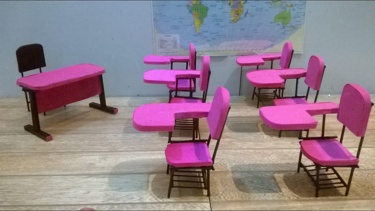 Fabuloso Como fazer cadeira escolar para Barbie e outras bonecas - YouTube JF84