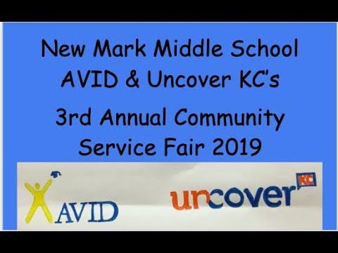 New Mark Middle School 8th Grade AVID Community Service Fair 2019