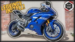 LeoVince Full Exhaust System Install & Sound Test! [Yamaha R6]