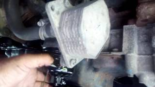 How to change oil filter on FORD TRANSIT MK7