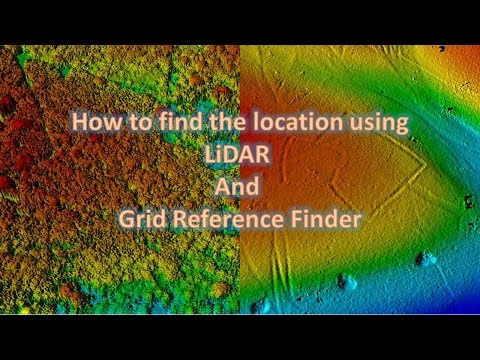 How to use Lidar and grid reference finder together