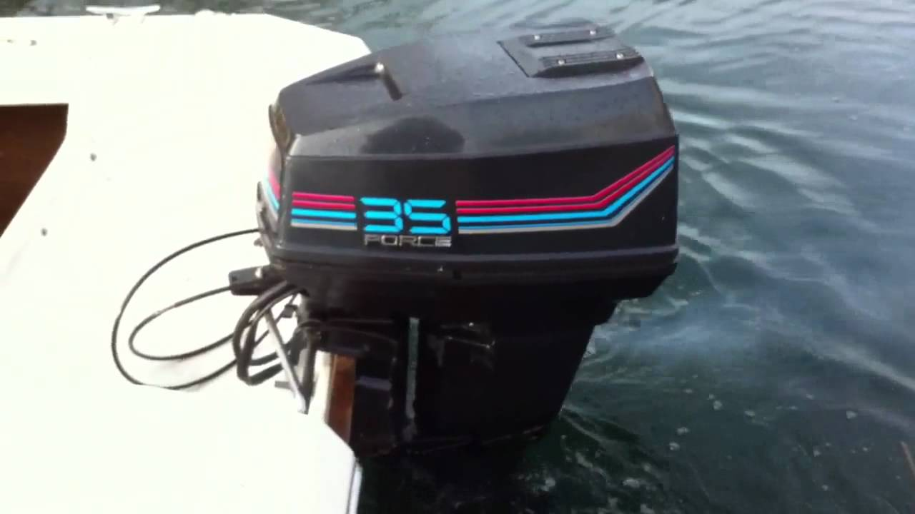 1988 Force 35 Hp 357y8b Start Up