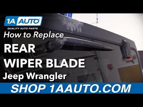 How to Replace Rear Wiper Blade 06-18 Jeep Wrangler