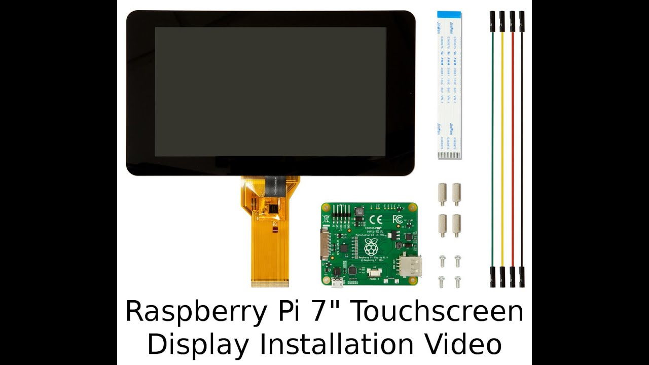 official raspberry pi 7 touchscreen display installation video youtube