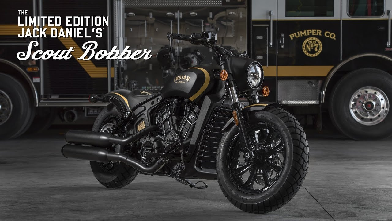 2018 jack daniel's le indian scout bobber | indian motorcycle