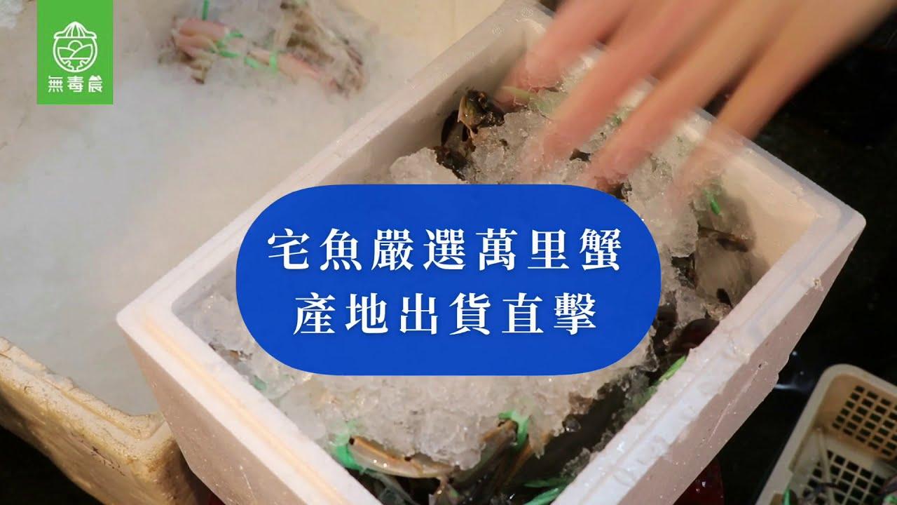 無毒農開箱囉|宅魚精選萬里蟹 feat.生鮮肉舖