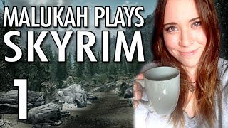 Repeat youtube video Malukah Plays Skyrim - Ep.1: Bow Woes