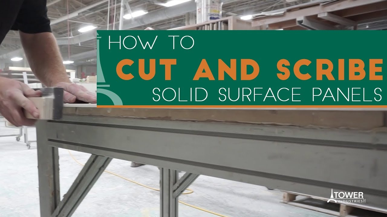 How To Scribe And Cut Solid Surface Wall Panels Meridian Solid Surface Youtube
