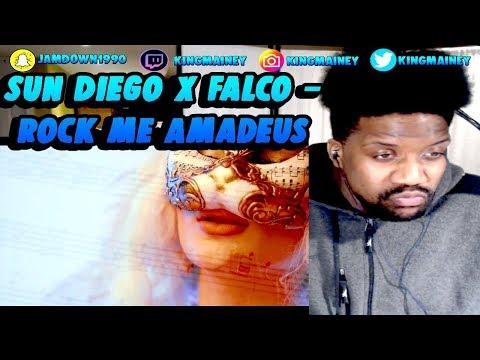 (GERMAN)Sun Diego x Falco - Rock me Amadeus prod. by Digital Drama & Jan Van Der Toorn REACTION!!