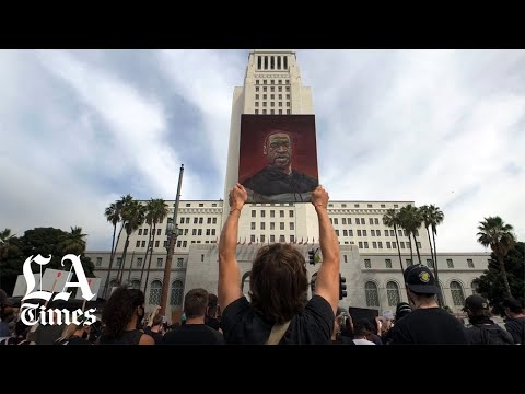 Peaceful Protests Continue In Downtown L.A.