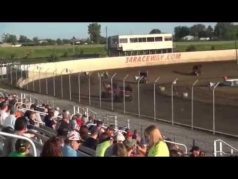 Sprint Invaders heat 1 34 Raceway 5/29/16