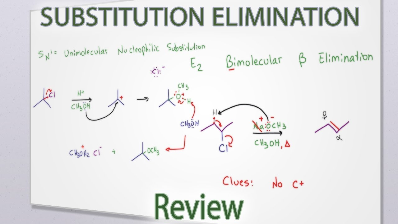 how to work out substitution reaction sn1 sn2