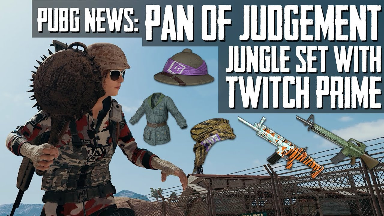 PUBG News | PAN OF JUDGEMENT In-Game, Jungle Set With Twitch Prime, Helmet  Skin