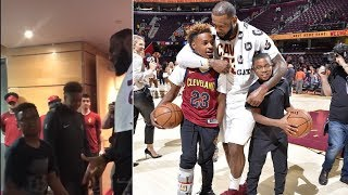 "LeBron James' Son Asks LeBron: ""How Do You Makes All Those CRAZY SHOTS?!"" After Cavs Game 6 Win"