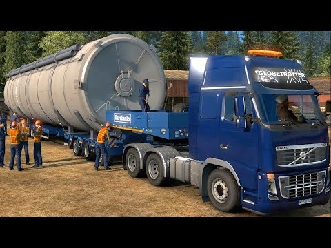 Euro Truck Simulator 2 - Giant Silo - Special Transport Gameplay (PC HD) [1080p60FPS]