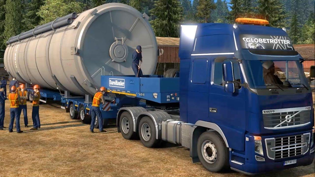 euro truck simulator 2 giant silo special transport. Black Bedroom Furniture Sets. Home Design Ideas