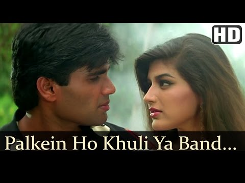 Palkein Hon Khuli Ya Band - Sunil Shetty - Sonali Bendre - Takkar - Bollywood Songs - Kumar Sanu
