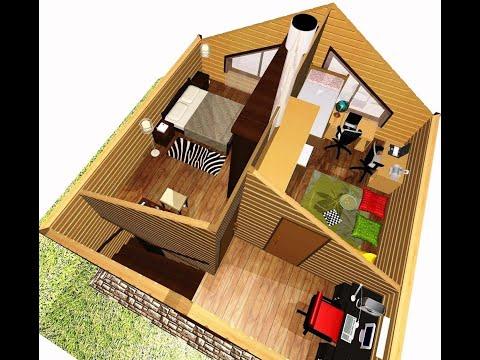 Проект дома 6х6 из бруса для родителей