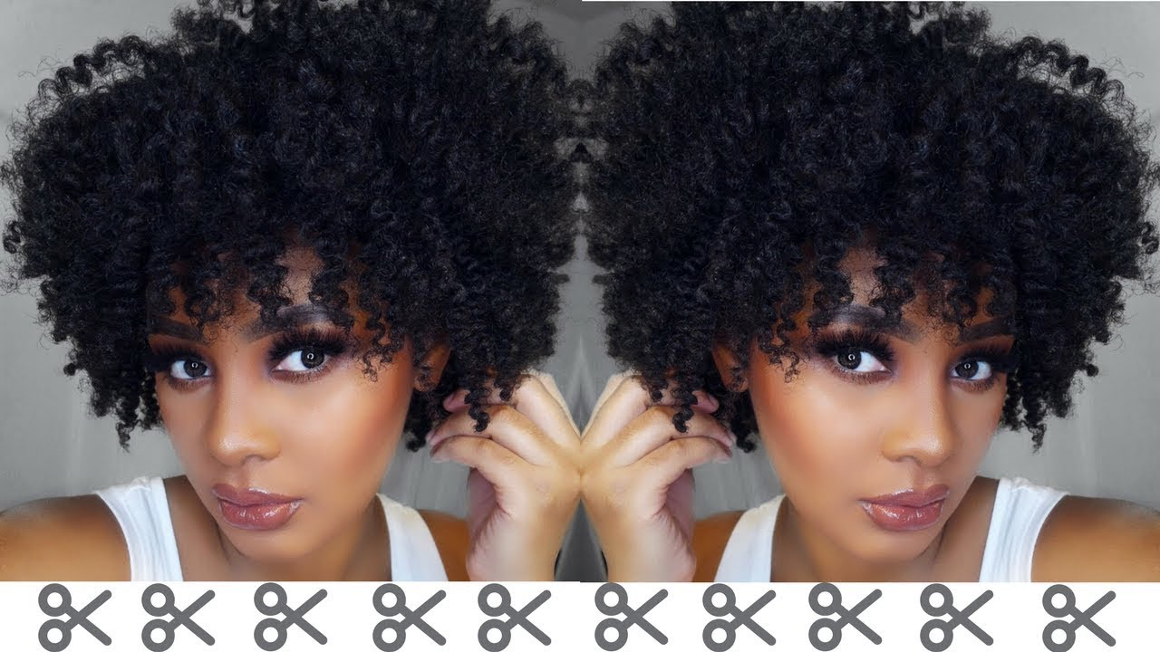 Watch Me Cut Shape Life Back Into My Natural Hair Youtube