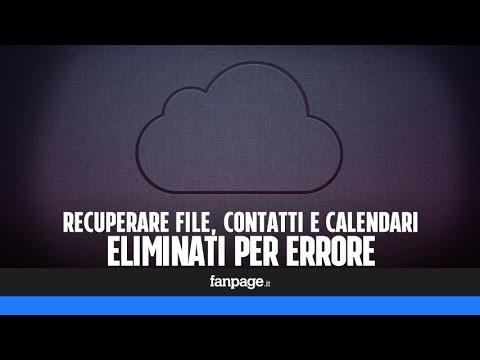 Come Recuperare File Contatti E Calendari Eliminati Per Errore In Iphone E Ipad