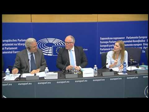 European Agenda on Security: press conference by Frans TIMMERMANS and Dimitris AVRAMOPOULOS