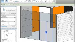 Revit (Autodesk) creating a Curtain Wall with Double Doors