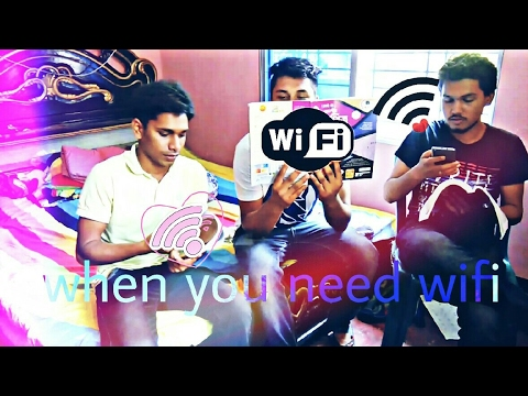 BANGLA FUNNY VIDEO    WHEN YOU NEED Wifi    Kazi Abid    ZazUp  💀