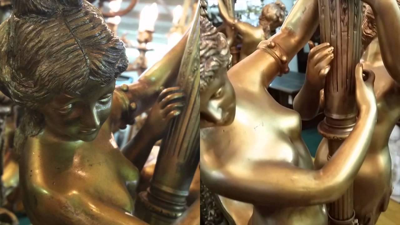 Antique french belle 201 poque bronze chandelier c 1880 youtube