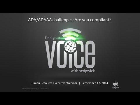 Webinar | ADA/ADAAA Challenges: Are you compliant?