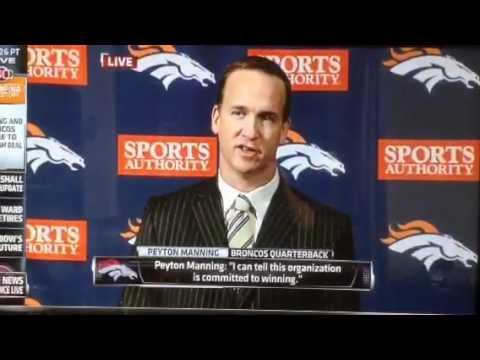 Payton Manning Presser