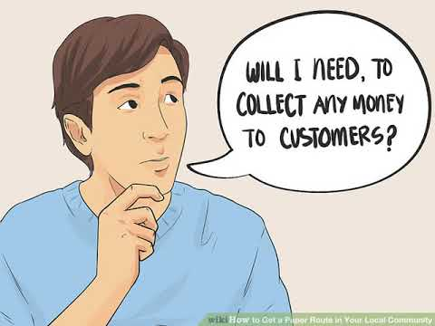 How To Get A Paper Route In Your Local Community