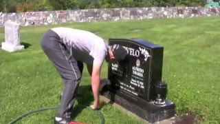 CLEANLINESS IS NEXT GODLINESS -- BC man volunteers his time cleaning cemetery headstones