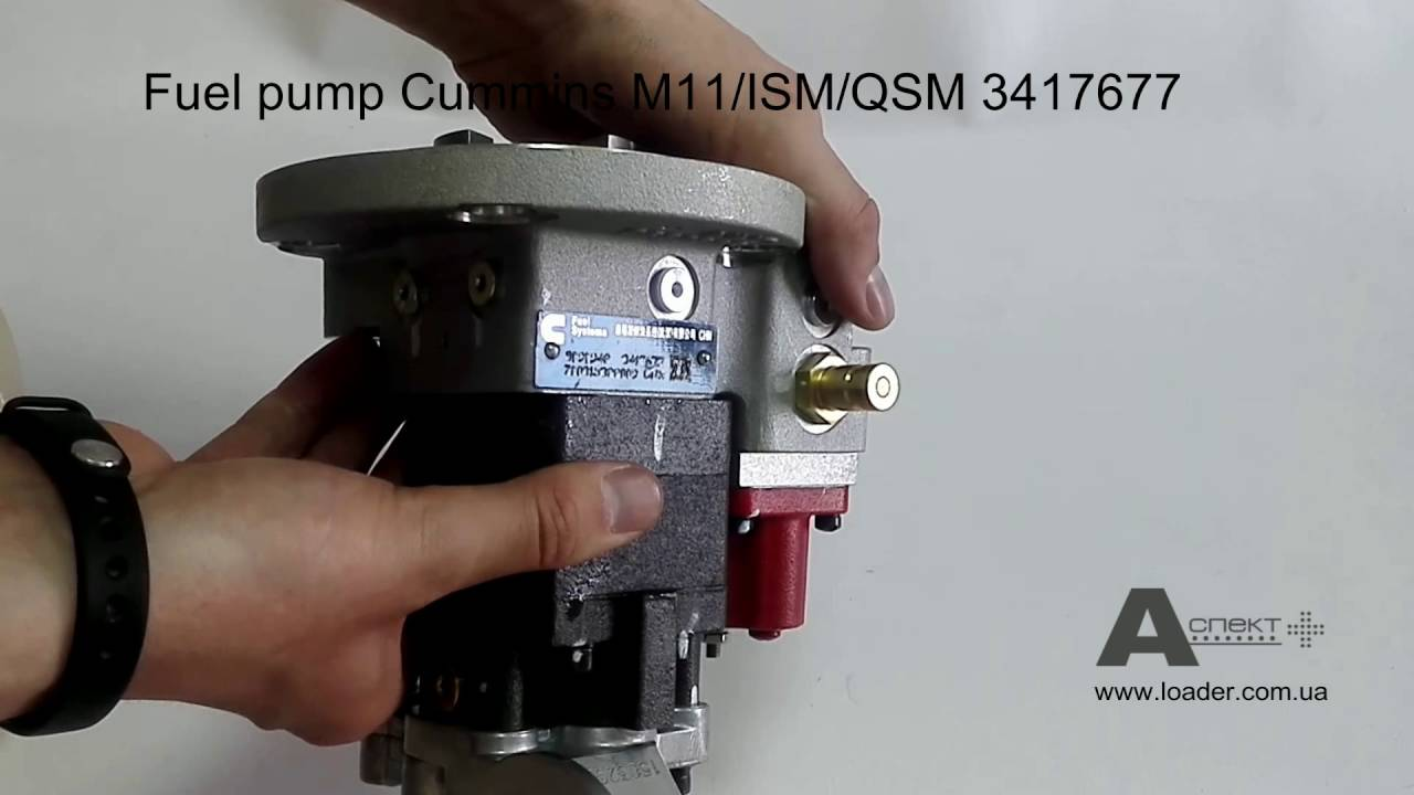 Toplivnyj Nasos Fuel Pump Cummins M11 Ism Qsm 3417677 Youtube