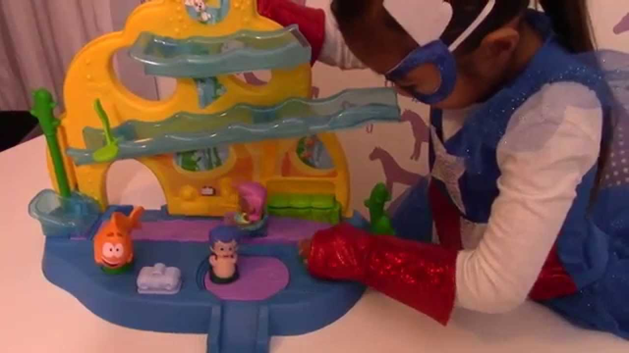 Fisher Price Bubble Guppies Swim Sational School Toy Review Youtube