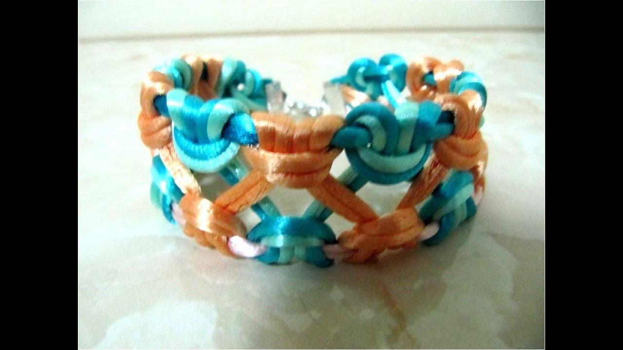 DIY como hacer pulseras de la amistad en macramé , DIY how to make friendship bracelets macrame , YouTube