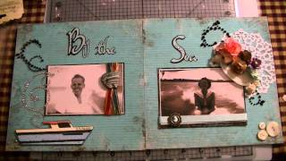 Family Layout - By The Sea Using Cricut Craft Room W/tutorial