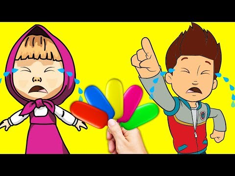 Thumbnail: Bad Baby Masha & Paw Patrol Ryder Ice Cream For Crying - Colors Learn Finger Family