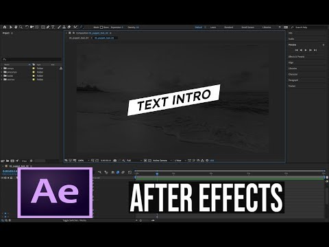 After Effects Tutorial 5 -  Funky Text Effect in Adobe After Effects thumbnail