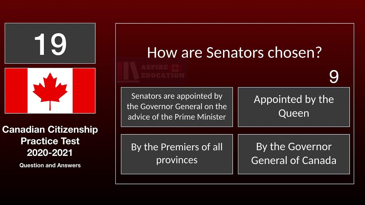 Canadian Citizenship Practice Test 2020-2021| 25 Question ...