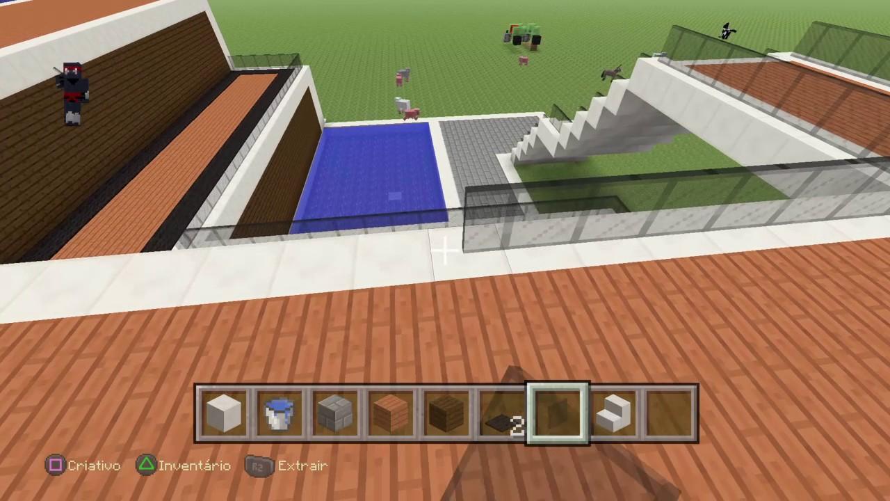 Minecraft casa moderna parte 3 youtube for Cassa moderna
