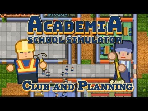 Building a Student Club  - Academia: School Simulator Gameplay (School Architect)