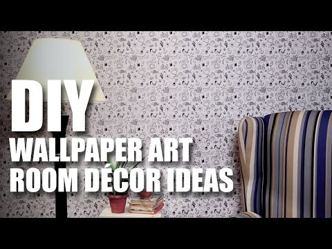 How to make a DIY Wallpaper Art