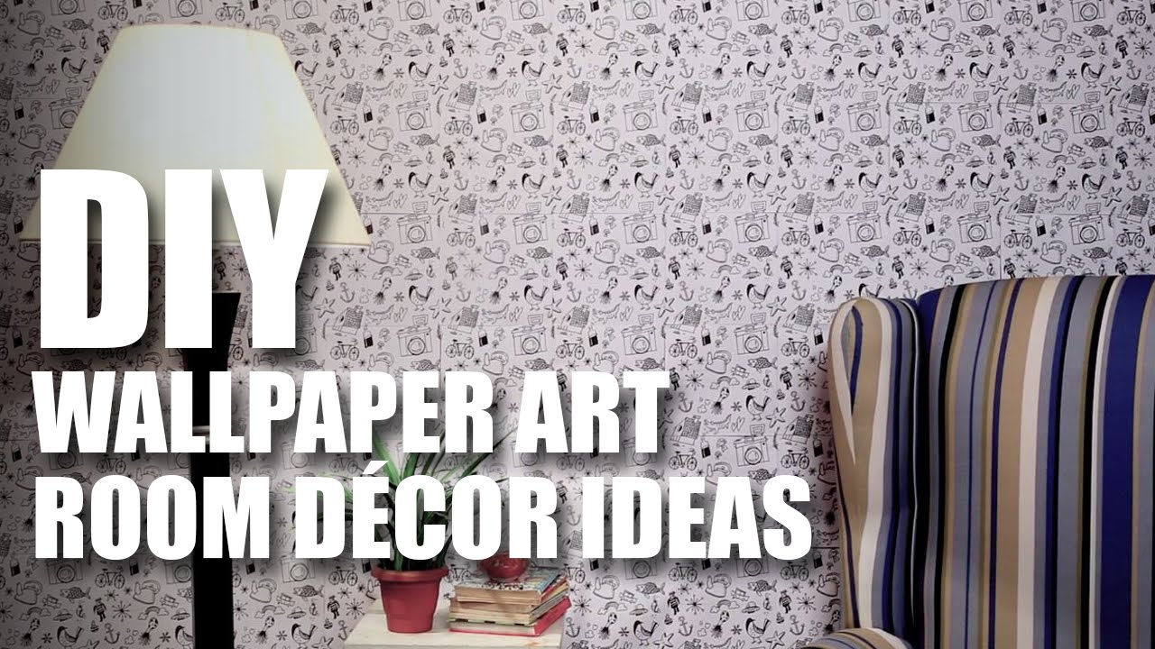 Diy wallpaper art diy room decor ideas mad stuff with rob youtube