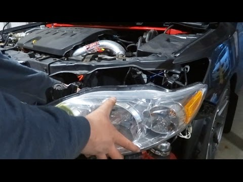 How To Remove And Install A Headlight On Car 2009 2017 Toyota Corolla