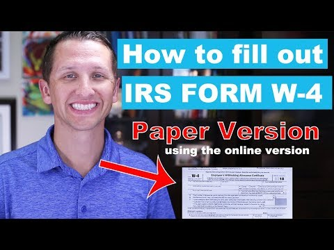 """<span class=""""title"""">Form W-4 Paper Version using the Online Version</span>"""