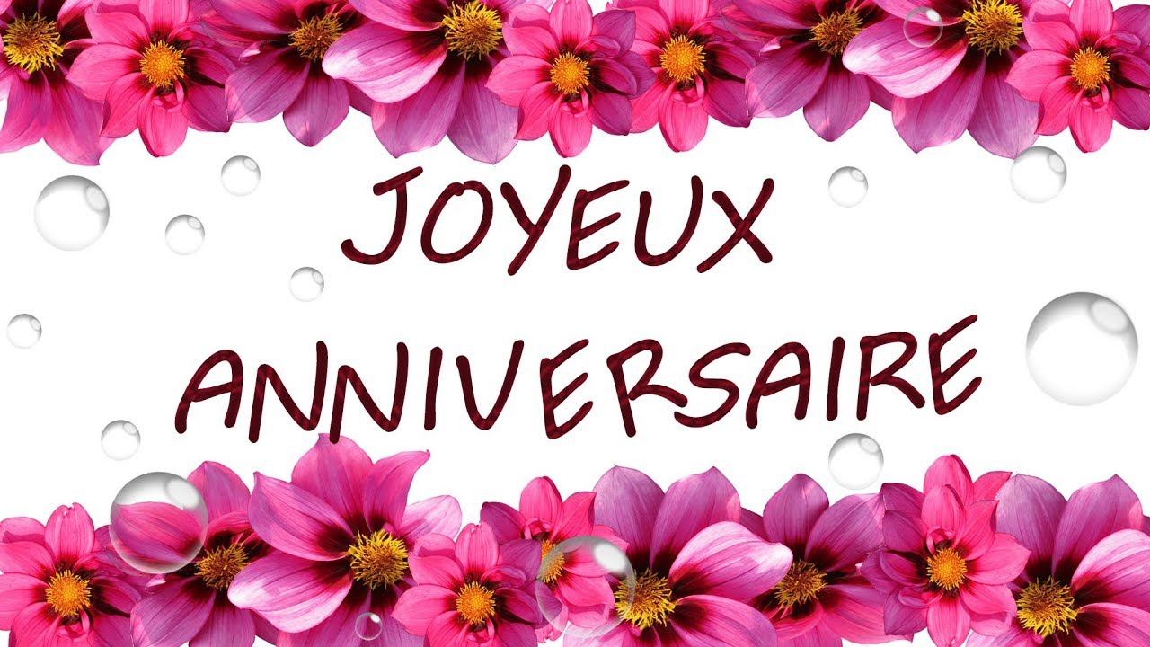 joyeux anniversaire carte virtuelle d 39 anniversaire fleurs youtube. Black Bedroom Furniture Sets. Home Design Ideas
