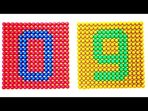 diy---how-to-make-numbers-magnetic-balls-|-learn-numbers-magnet-balls-|-learn-to-count-0-to-9