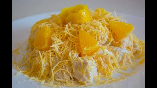 ПП Салат с апельсином, курицей и сыром с заправкой из йогурта ( без майонеза )